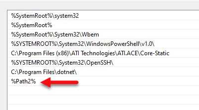 Environment Variable Is Too Large