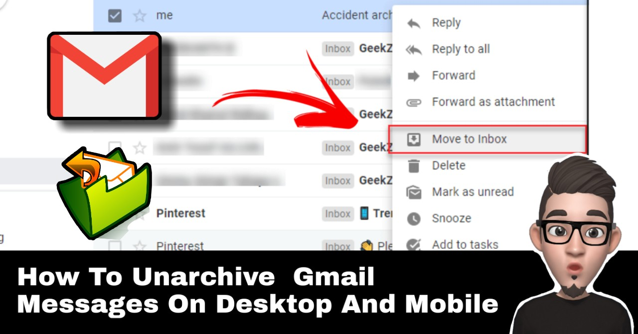 How To Unarchive Gmail Messages