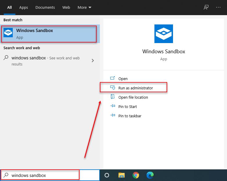 How To Use Windows 10 Sandbox