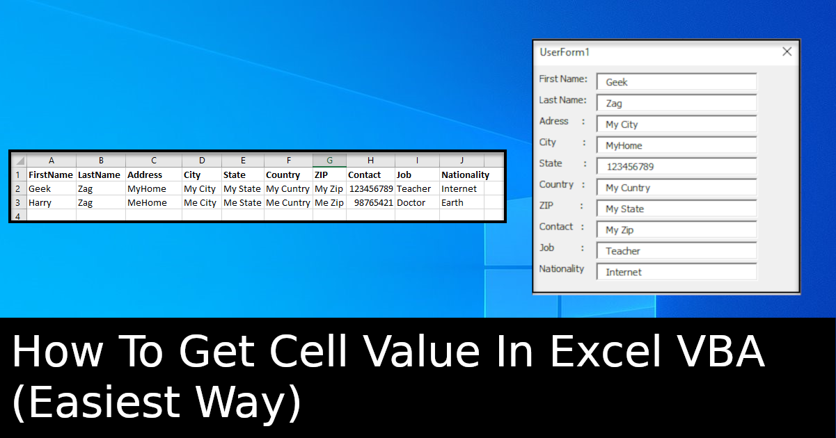 How To Get Cell Value In Excel VBA  (Easiest Way)