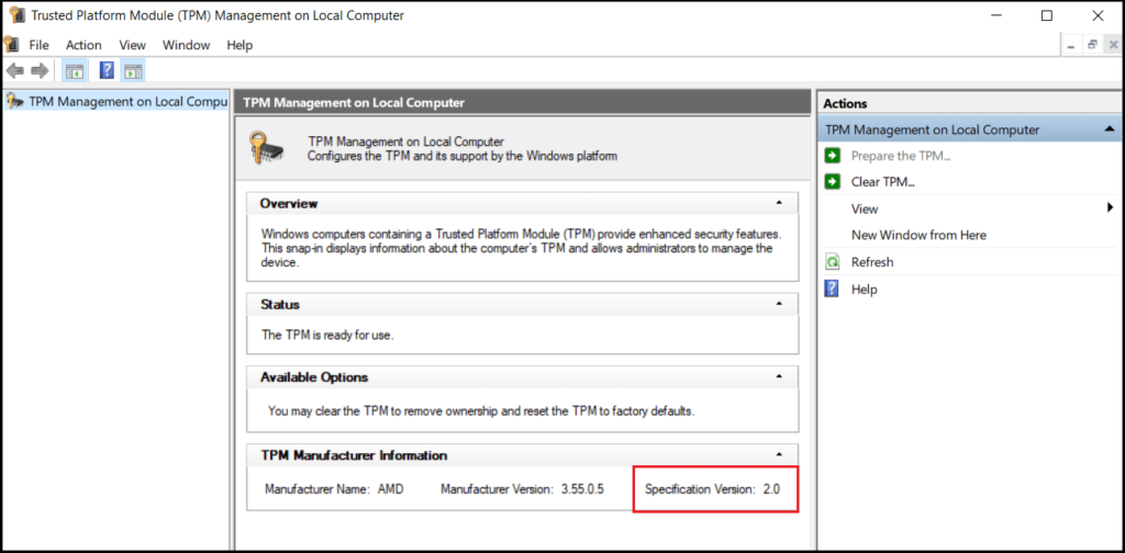 How To Check TPM Version